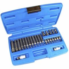 Juego 26 piezas de puntas torx inviolable 10 mm