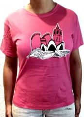 Camiseta edificios valencia pecho de valentia souvenirs