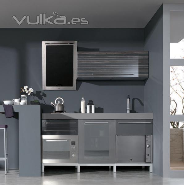 Mueble de cocina moderno tonos grises