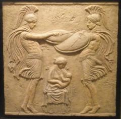 Arte clasico romano, arte y decoracion-bajorrelieves,  escultura relieve, cuadro decorativo