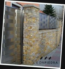 Valla piedra caliza. www.leonpiedra.es