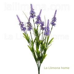 Planta flores bush ver�nica artificial violeta 45 - la llimona home