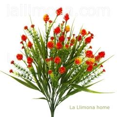 Plantas artificiales con flores. planta flores eryngium artificial bush naranja - la llimona home