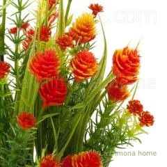 Plantas artificiales con flores. planta flores eryngium artificial bush naranja 3 - la llimona home