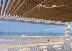 P�rgola de madera con cubierta de listones tratados en autoclave, chiclana, c�diz. www.navarrolivier