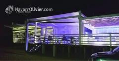 Iluminaci�n led, chiringuito duna beach club - chiclana. www.navarrolivier.com