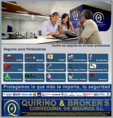 Quirino & brokers - seguros para particulares y profesionales, disponemos de los indicados y + otros