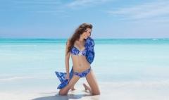 Bikini copas especiales antigel en color azul estampado de estrellas marinas 2014 lenceriaemi.com