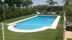 Cercado de piscina con malla hercules