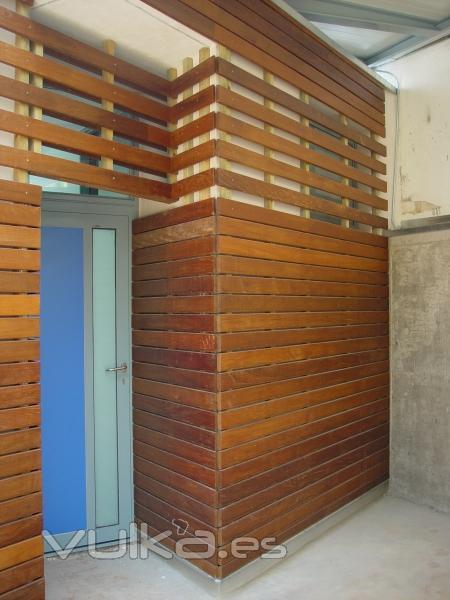 Foto detalle revestimiento madera en pared - Revestimiento madera paredes ...