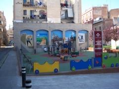 Decoración mural parque del carrilet reus