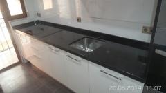 Encimera de cocina negro zimbawe