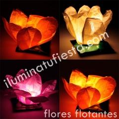 FLORES FLOTANTES LUMINOSAS