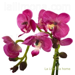 Planta flores orquideas artificiales malva maceta terracota 29 2 - la llimona home
