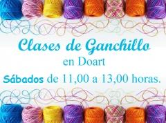 clases de Ganchillo en Doart, los Sábados de 11 a 13 horas