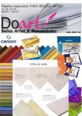 papeles especiales para bellas artes en Doart A4, A3, A2, A1, A0