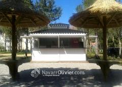 Caseta de madera tratada `para camping by www.navarrolivier.com