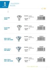 Halogen bulbs c9