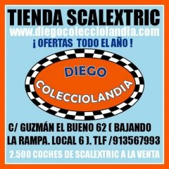 Tienda,jugueter�a,scalextric,slot. www.diegocolecciolandia.com .coches,scalextric,slot,madrid,espa�a
