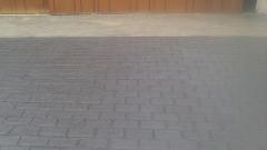 reforma de entrada de garaje en boo de pielagos estampado