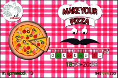 Make your pizza! for our students age 12-18. taste it in english!