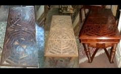 Mesa tallada s. xviii (antes y despu�s)