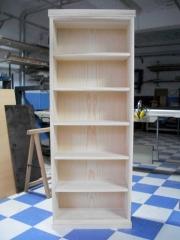 Artesano dca5061. librer�a en pino gallego preparada para barnizar en tono cerezo