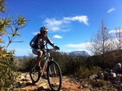 Ruta de bicicleta de montaña aventura pata negra denia