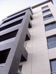 Fachada del edificio dimensur ii en la vega de aca