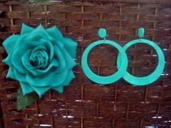 Flor flamenca y pendiente en varios colores