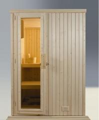 Fabricación y venta de saunas de interior. 14 modelos estándar