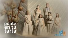 Figuras personalizadas para tartas de boda, comuni�n y cumplea�os -threedee-you foto-escultura 3d-u