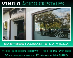 Vinilo para Ventana Restaurante | The Green Copy Rotulaci�n Villanueva de la Ca�ada MADRID