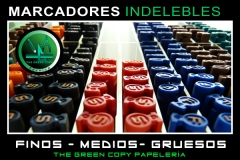 Marcadores Indelebles Colores | The Green Copy Papeler�a Villanueva de la Ca�ada MADRID