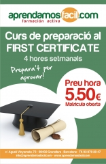 FIRST CERTIFICATE GRANOLLERS