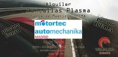 Alquiler audiovisuales madrid - alquiler pantallas plasma feria madrid - alquiler proyectores madrid