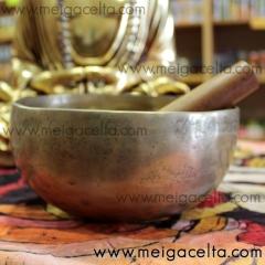 Cuenco tibetano de 7 metales con baqueta