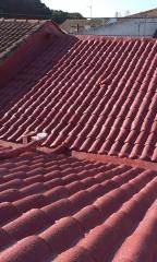 aislamiento de cubierta exterior con poliuretano y spr300