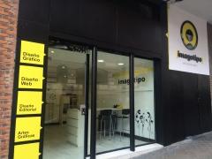 Fachada nuevo estudio en calle Gil Imón, 10 de Madrid.