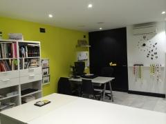 Interior nuevo estudio en calle Gil Imón, 10 de Madrid.
