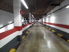 Pintado paredes y techo parking