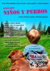 Seminario sobre conviencia entre niños y perros, castellón. para particulares y profesionales.