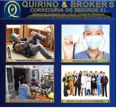 QUIRINO & BROKERS - Todo tipos de seguros relacionados con accidentes personales, convenios de emprs