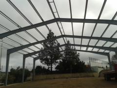 Estructura metalica cancha deportiva San Mateo