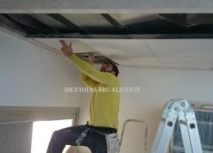 instalando techo desmontable