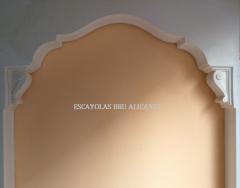 arco de escayola expuesto en nuestra oficina en C/Espoz y Mina, 20 (Santa Pola)