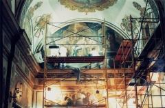 Restauraci�n de pintura mural: capilla de la comuni�n, bocairent, iglesia parroquial.