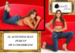 Ref 0298 jean colombiano push up chianti