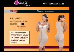 Ref 2397 Faja short espalda alta Diane en powernet colombiana