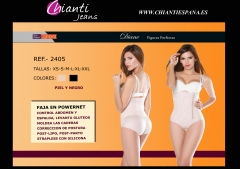 Ref 2405 Faja body Strapless Diane en powernet colombiana